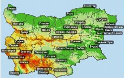 Картата на България с новите имена